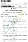 UPTU B.Tech Question Papers -BT-802 - Environmental Biotechnology-II