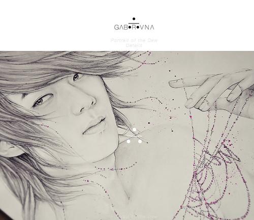 Portrait of the Dew (Sehun fanart) - Details