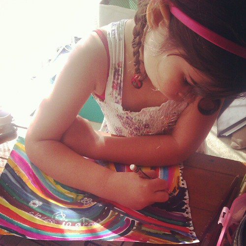 Journaling in the sun. :)