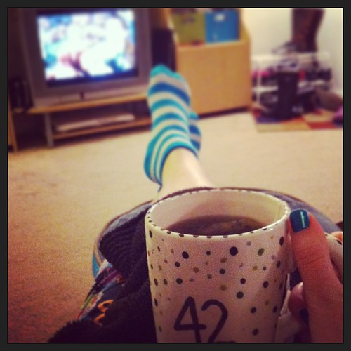 Still very ill, but I'm feeling better enough to start instagramming my recovery. Tonight's remedies: Breathe Deep tea and Doctor Who.