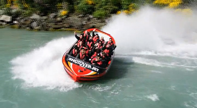 Shotover Jet World's Most Exciting Jet Boat Ride Arthurs Point Queenstown | Day 4 New Zealand Sweet as South Contiki Tour | A Guide to South Island
