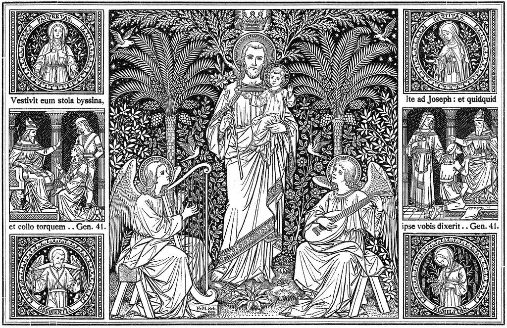 Holzschnitt von Fr. M. Sch. 1894 aus dem Missale Romanum - Altarbuch 1923 - die 25 Martii