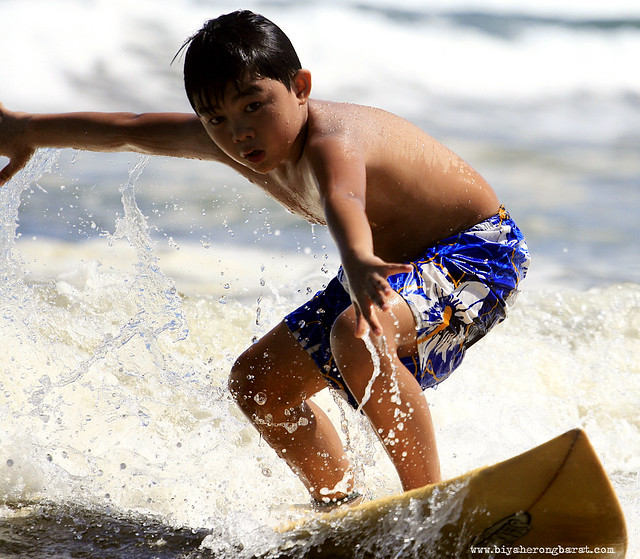Surfing in Bagasbas Beach Daet Camarines Norte