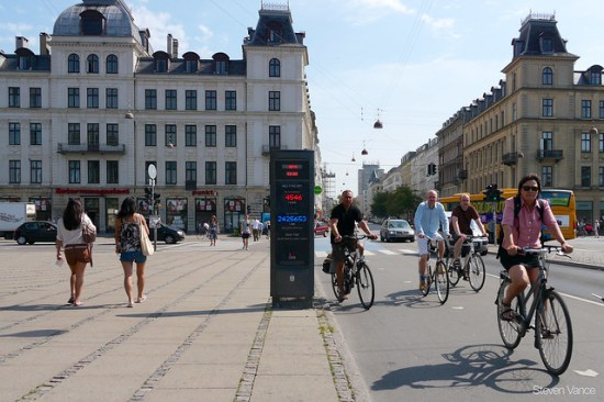 Counting cyclists in Copenhagen
