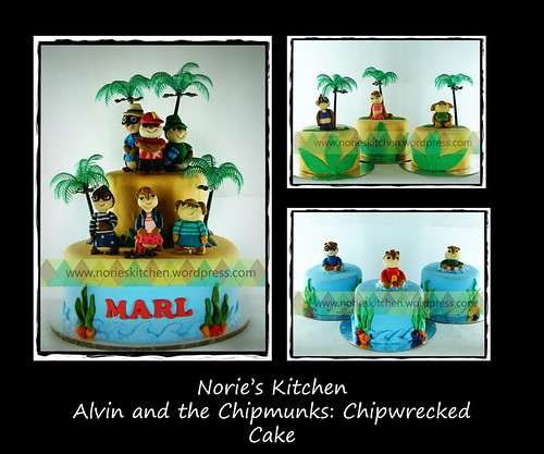 Norie's Kitchen - Alvin and the Chipmunks - Chipwrecked Cake by Norie's Kitchen