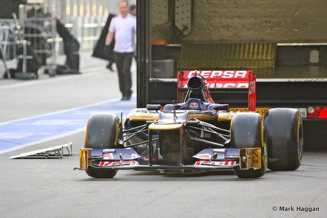 A Toro Rosso in the pit lane at Formula One Winter Testing, 3rd March 2013