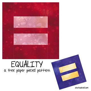 Equality, a free paper pieced pattern