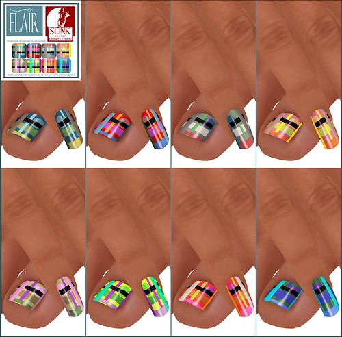 Flair - Nails Set 27 -Nail Hud Add Ons both types Included Set 27