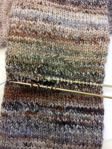 in progress :: handspun Dad socks