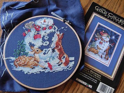 Snowman Crossstich