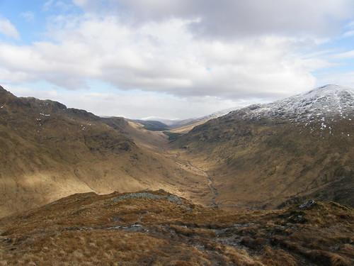 The view along Glen Kinglas to....