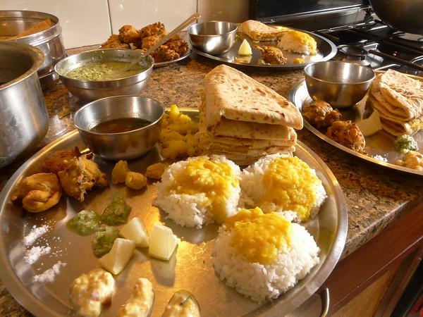 puran poli spread for Champa Shashthi