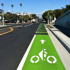 "Ocean Park Blvd. Green Bikelane (Part of ""Complete Street"" project)"
