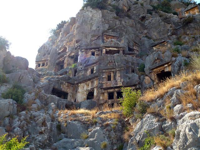 Turquie - jour 10 - Demre (Myra) - 033 - Nécropole de Myra (Örenyeri)