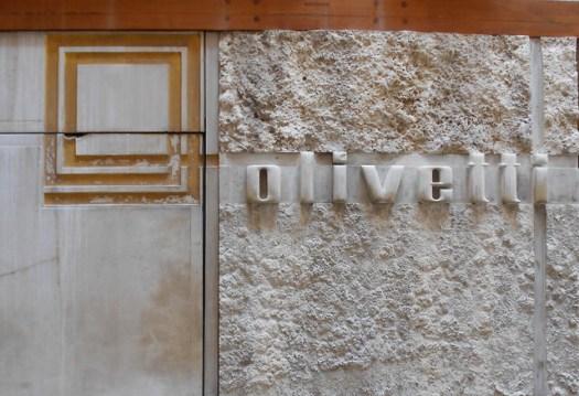 Olivetti e logo, negozio Olivetti, Carlo Scarpa, Venezia
