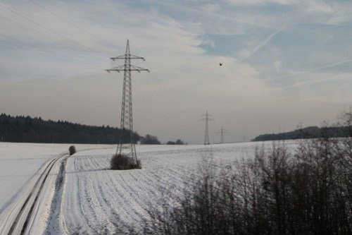 German high voltage transmission lines