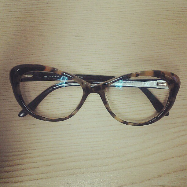 New glasses! They are cat eye perfection.