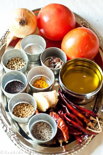 Ingredients for Tomato Thokku