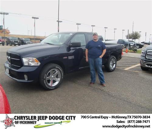 Congratulations to Nicholas Drew on the 2013 Dodge Ram by Dodge City McKinney Texas