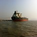 Ship sailing on the way to Elephanta