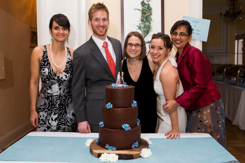 these fine people helped make our awesome cake