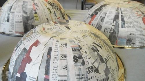 Papier Mache Bowls 9