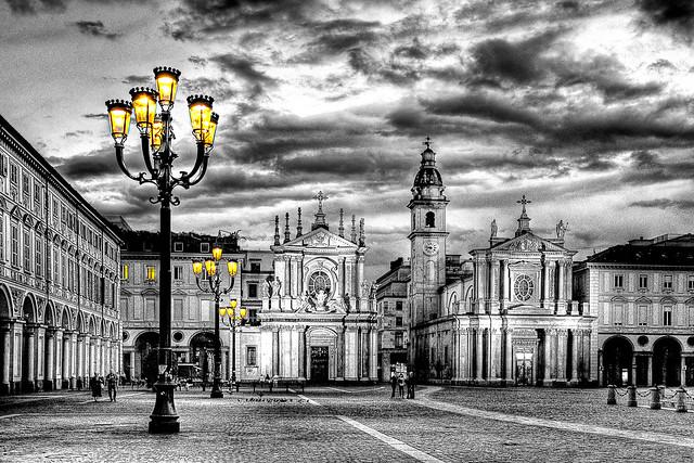 Luci in piazza San Carlo
