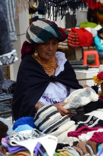 Old lady selling her merchandise