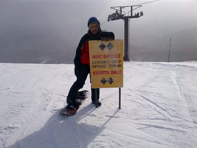 Snowboarding Killington Double Diamond