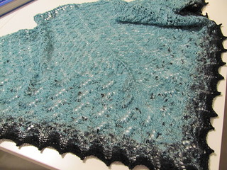 Finished Swallowtail Shawl