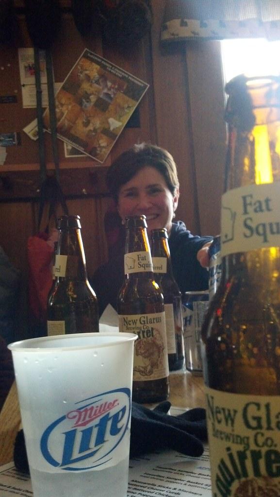 post-Birkie fun at Louie's