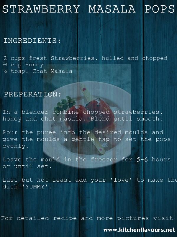 Strawberry Masala Pops