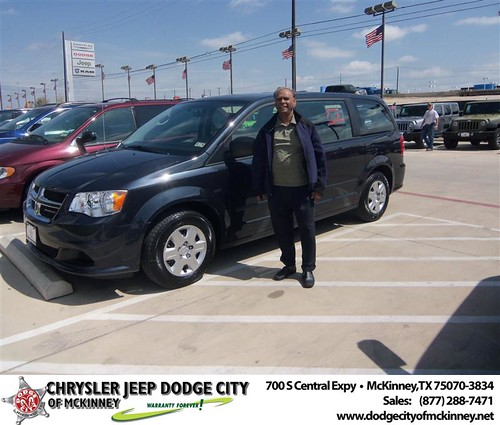 Dodge City of McKinney would like to say Congratulations to Aminur Rahman on the 2013 Dodge Grand Caravan by Dodge City McKinney Texas
