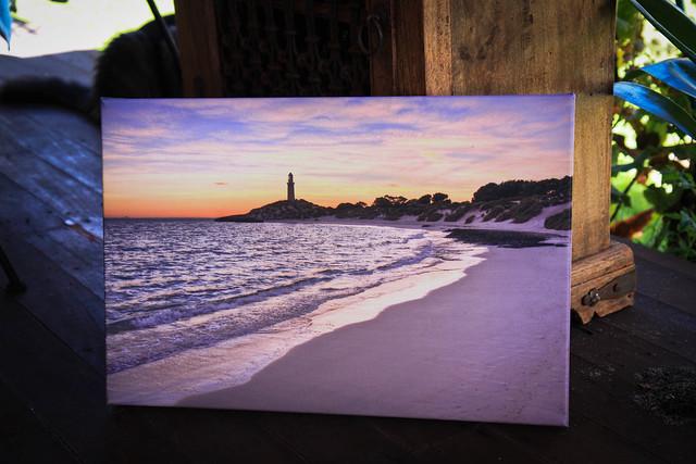 Pinkies beach, Rottnest island on canvas
