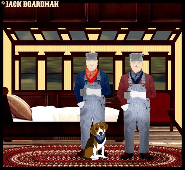 Daisy, Larry & Boomer in Boomer's cabin Part 2