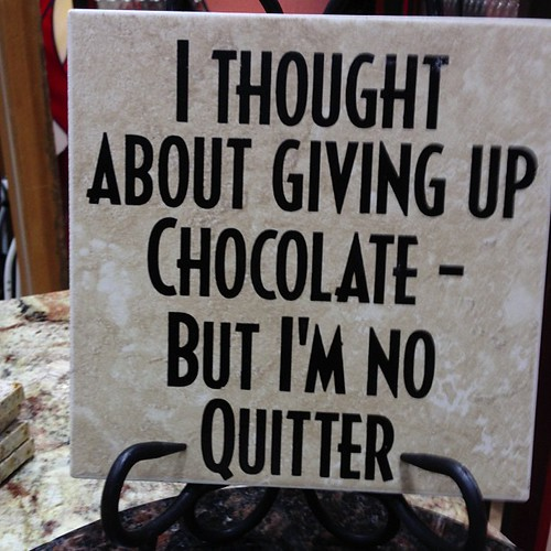 On chocolate.