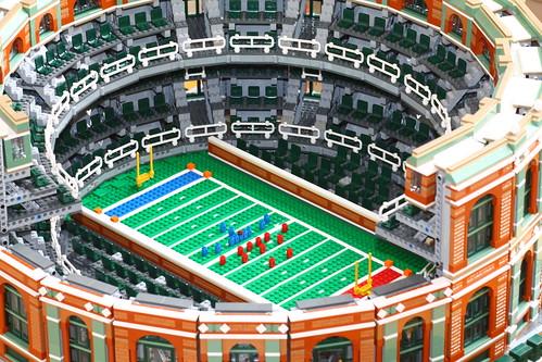 Giant Domed Baseball Stadium Made Of Over 18000 Lego Bricks The