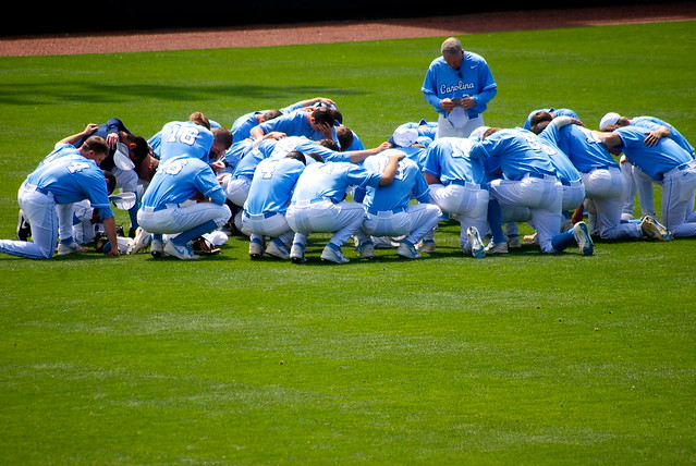 college baseball: duke @ unc, game 1