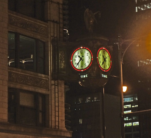 """""""TIME"""" Clock  Chicago Ill"""