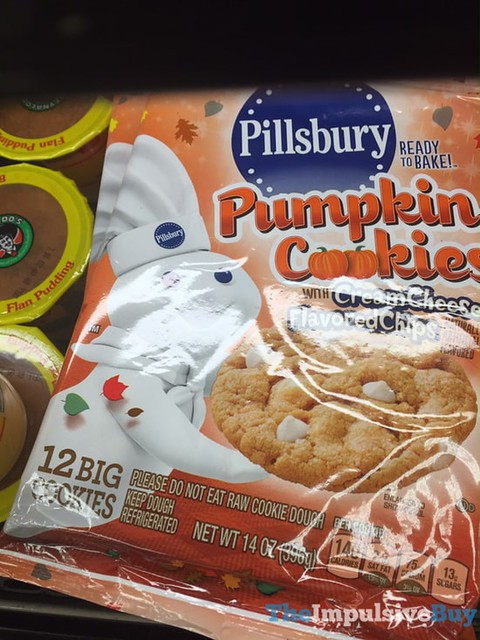 Pillsbury Pumpkin Cookies with Cream Cheese Flavored Chips