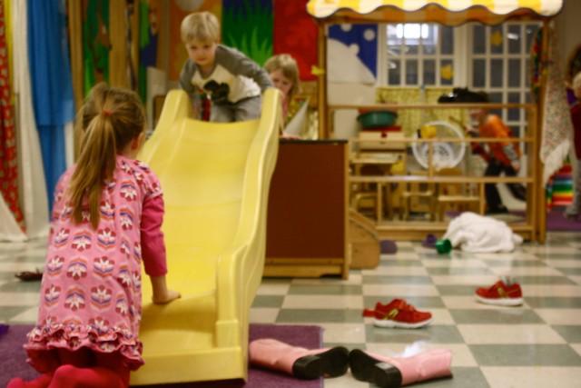 indoor preschool slide!