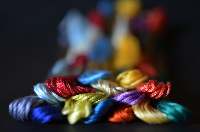 Colorful threads.