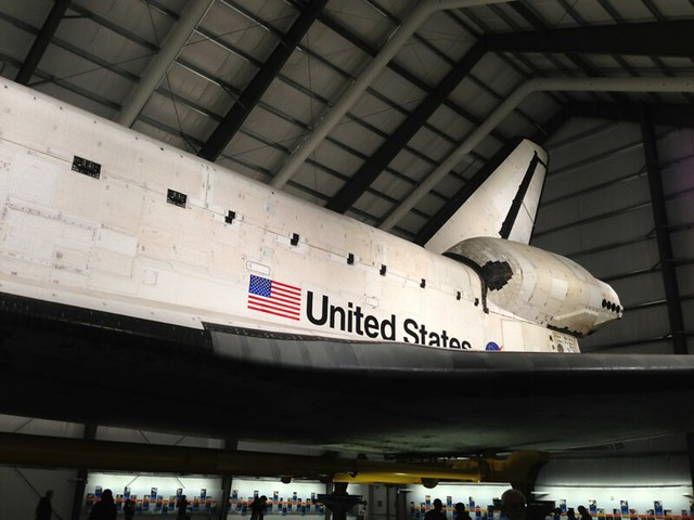 The space shuttle Endeavour!