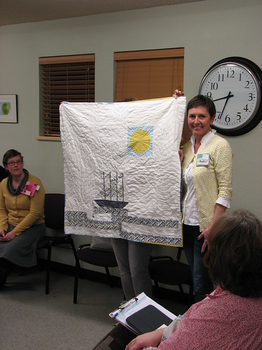 Kristen's Madrona Road - Her own deisgn and hand quilted