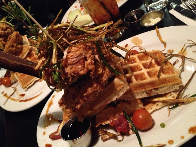 Sage fried chicken and waffles - Hash House A Go Go