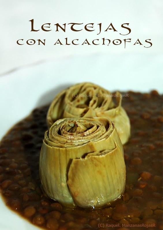 Lentejas con alcachofas