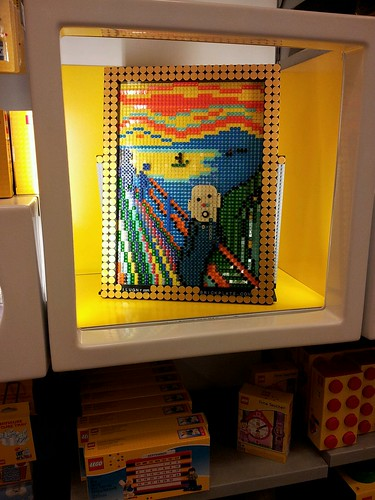 """The Scream"" at the Rockefeller Center LEGO Store by brickplate"