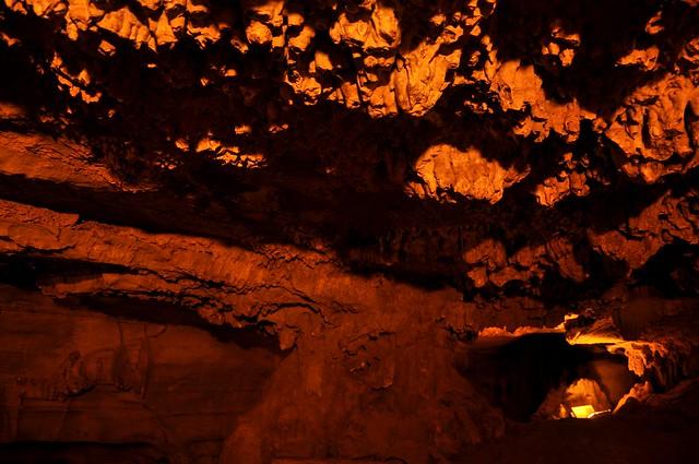 banyan tree like rock formation inside Belum Caves