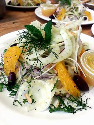 root salad - fennel, celery root, radish by pipsyq