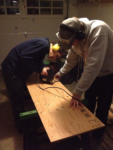Cutting out the first pieces of Pembroke II